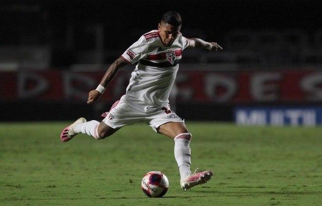 Galeano - Posição: Atacante - Clube: São Paulo - Idade: 21 anos - Valor de mercado segundo o Transfermarkt: 700 mil euros (aproximadamente R$ 4,37 milhões) - Contrato até: 31/12/2021.