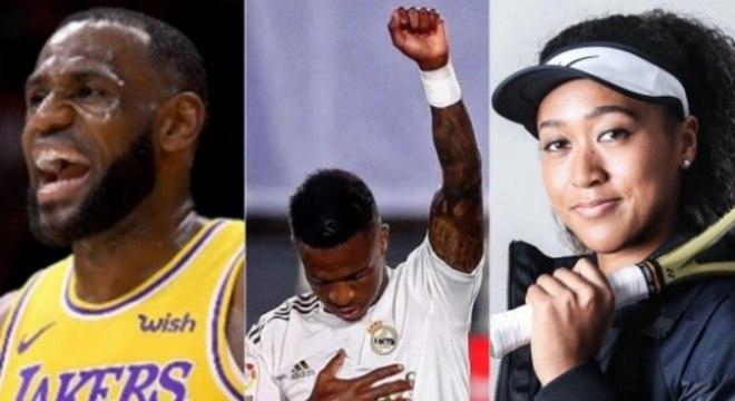 LeBron, Vinícus Júnior e Naomi Osaka: atletas tem opinião e se expressam  publicamente por causas sociais