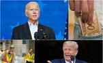 A semana que termina neste sábado (7 de novembro de 2020)foi marcada pelas Eleições nos Estados Unidos e a disputa acirrada entreDolnald Trump e Joe Biden para definir o futuro presidente da maior economia global.No Brasil, os destaques ficaram por conta da derrubada da desoneração da folhade pagamentos de 17 setores e a aprovação da autonomia do Banco Central noSenado. Relembre estes e outrosacontecimentos nas próximas fotos