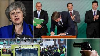 __Posse de armas, carro-bomba em Bogotá e Brexit marcam a semana__ (Reprodução)