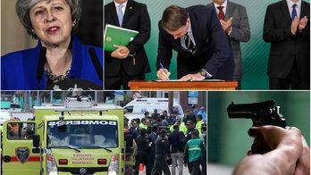 __Posse de armas, carro-bomba em Bogotá e Brexit marcam a semana__