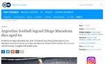 A Deutsche Welle, da Alemanha, chamou Maradona de