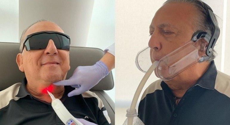 Galvão Bueno tratando de recuperar as cordas vocais, o fôlego, após o infarto