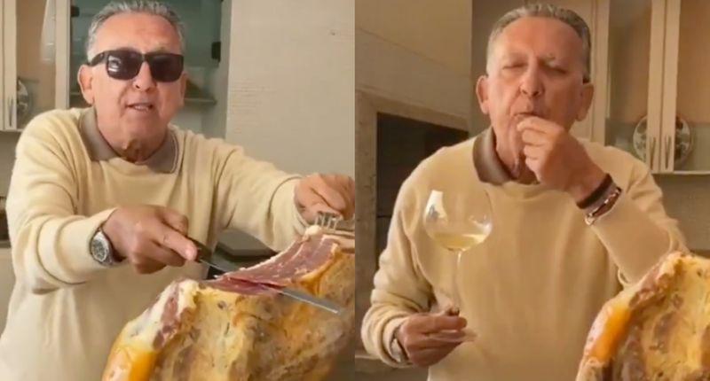 Galvão Bueno ensina a comer presunto de R$ 7 mil e vira meme ...