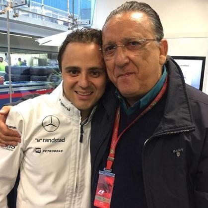 Galvão Bueno junto de Felipe Massa em Interlagos (Foto: Reprodução/Instagram)