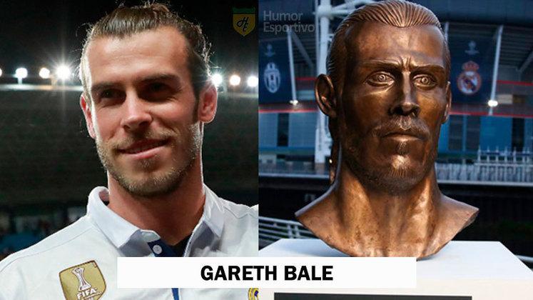Gareth Bale foi homenageado pelo escultor Emanuel Santos