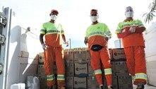 Garis participam de campanha para arrecadação de cestas básicas