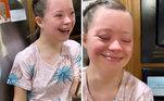 Bree foi gravada pela mãe enquanto fazia uma chamada de vídeo com o pai para contar sua mais nova conquista.