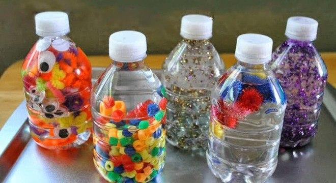 garrafas com brilhos