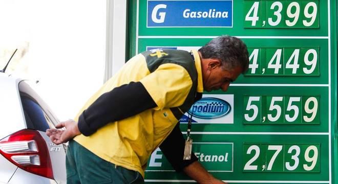 Valor médio da gasolina subiu em torno de 20% desde outubro de 2016