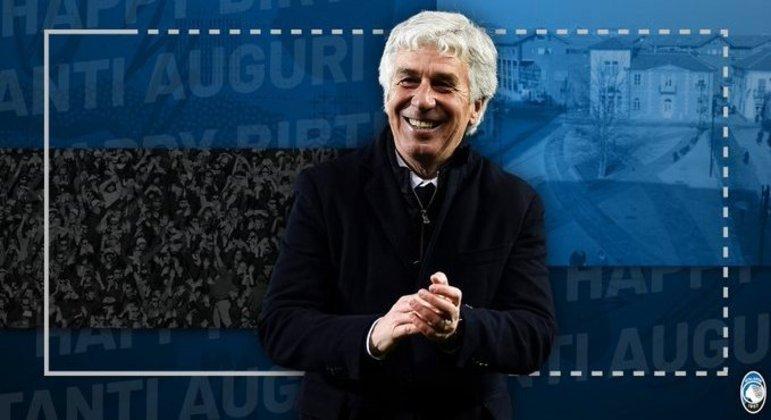 Gian Piero Gasperini, o treinador da feliz Atalanta
