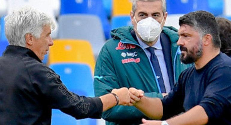 Gasperini e Gattuso, antes do desafio, nada a comentar