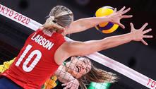 Brasil perde para EUA e fica com prata no vôlei em Tóquio 2020
