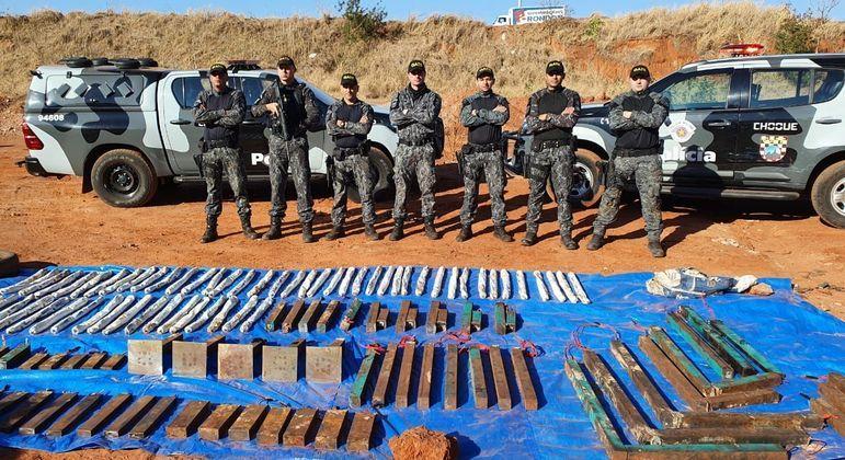 Gate realiza trabalhos para a retirada de explosivos em Araçatuba após ataques