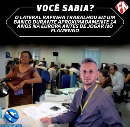 Gatorade, colete, banco... rivais provocaram lateral Rafinha, do Flamengo, afirmando que o jogador só ficava no banco do Bayern de Munique