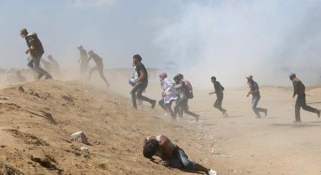 Protestos de palestinos na fronteira de Gaza com Israel cessaram