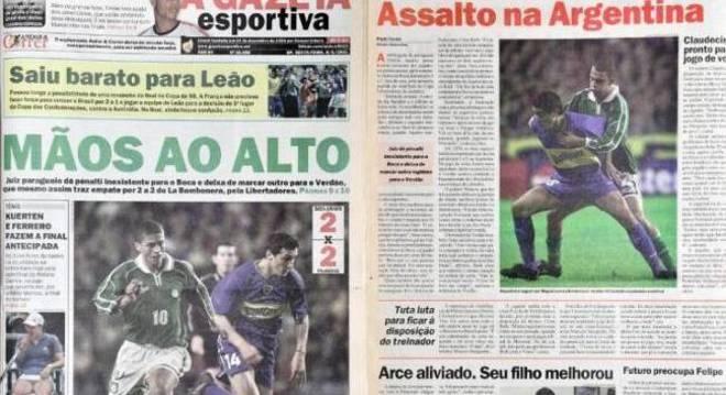 As manchetes do extinto jornal Gazeta Esportiva dá o tom do jogo em 2001