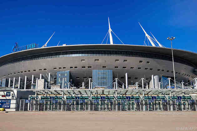 Gazprom Arena, em São Petersburgo, na Rússia.