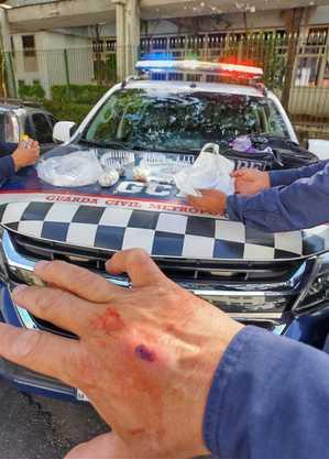 GCM ficou ferido durante confusão e prisões na Cracolândia