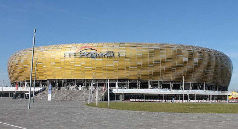 O Stadion Miejski de Gdansk, sede da final da Liga Europa