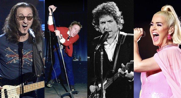 Geddy Lee, Johnny Rotten, Bob Dylan, Katy Perry