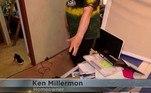 Ken Millermon mora emElk Mound — uma pequena vila em Wisconsin (EUA) — e disse à rede à redeWQOW-TV que o pedaço de gelo