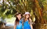 Desde pequenas, as duas se dão muito bem. Além de irmãs, são melhores amigas uma da outra