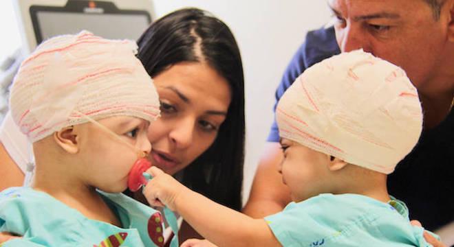 Lis e Mel passam bem, mas ainda estão no Hospital da Criança de Brasília