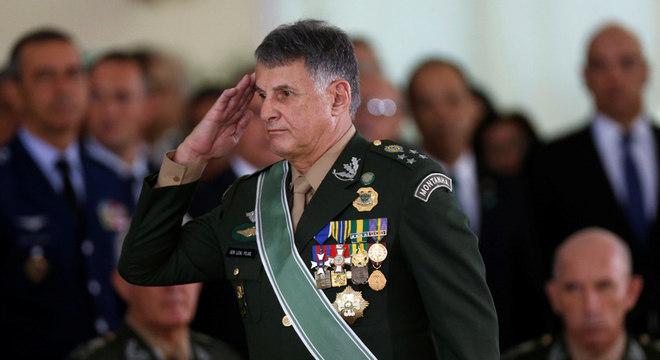 Comandante do Exército, general Edson Leal Pujol, durante cerimônia em Brasília
