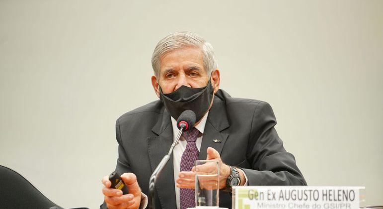 O ministro-chefe do Gabinete de Segurança Institucional (GSI), general Augusto Heleno