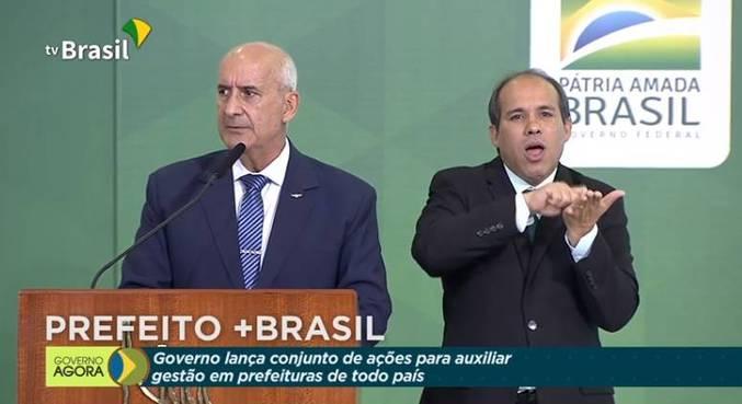 O ministro chefe da Secretaria de Governo, Luiz Eduardo Ramos, no lançamento