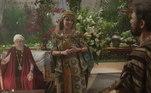 Antes disso, Nadi presta homenagem a Kissare (Norival Rizzo), mas o sacerdote se revolta. Ela pede o apoio de Terá (Angelo Paes Leme).Kissare se desaponta ao ouvir a verdade de Terá
