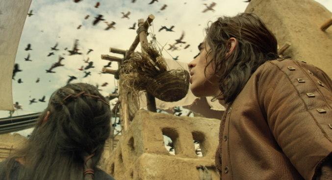 Animais indo para a Arca de Noé