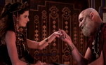 Morabi vê Nidana (Juliane Trevisol) com o anel do príncipe (Vitor Valle) e a acusa de ladra, depois a toma a joia.Nidana então acusa Harã (João Guilherme Fonseca) de roubo