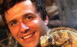 Para viver Jafé, o filho mais novo de Noé, o ator Gil Coelho estreitou o seu contato com os animais: