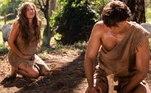 Com a barriga bastante saliente, Eva e Adão suspeitam que ela espera o primeiro filho deles.Adão fica feliz e comemora!Acompanhe as emoções de Gênesis de segunda a sexta, às 21h, na tela da Record TV