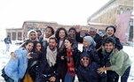 Uma dessas locações incríveis é o Marrocos! O elenco da novela foi ao país africano para as gravações e ainda tiveram que encarar a neve!