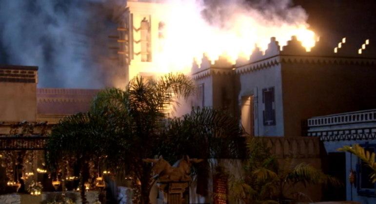 Incêndio movimentou o início da quinta fase da novela Gênesis