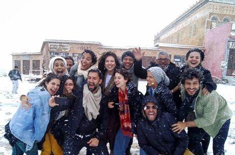 Elenco viajou para gravar o Marrocos