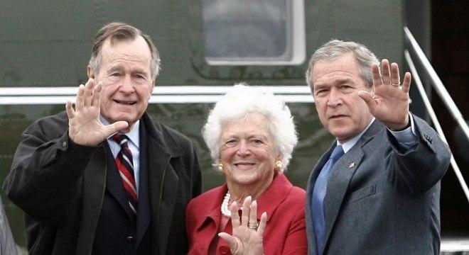 George Bush, Barbara Bush e George W. Bush na Páscoa de 2007