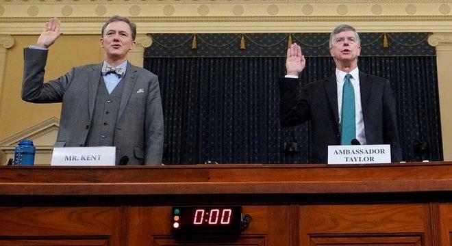 Além de Taylor, George Kent, vice-secretário-assistente de Estado e responsável por supervisionar a política externa americana com a Ucrânia, também depôs na quarta-feira