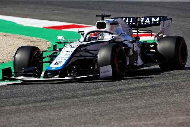 George Russell em ação no GP da Toscana