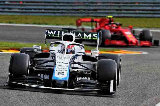 George Russell foi o 16º mais rápido no segundo treino livre, superando até a Ferrari de Sebastian Vettel