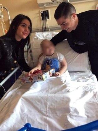 Georgina Rodriguez, Cristiano Ronaldo, hospital infantil