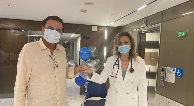 Geraldo Luís agradeceu os cuidados da médica Ludhmila Hajjar