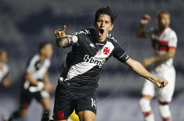 Germán Cano - Posição: Atacante - Clube: Vasco - Idade: 33 anos - Valor de mercado segundo o Transfermarkt: 2,5 milhões de euros (aproximadamente R$ 15,48 milhões) - Contrato até: 31/12/2021.