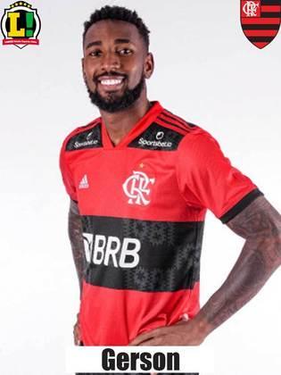 Gerson: 6,0 – Não foi tão importante no setor ofensivo, mas ajudou o Flamengo no campo de defesa, principalmente com duelos pelo chão.