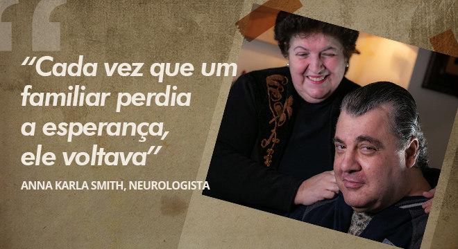 Força do ator surpreende médicos até hoje; acima, Gerson e a mulher, Marta
