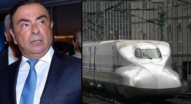 Ghosn tomou trem de Tóquio para Osaka antes de fugir para o Líbano