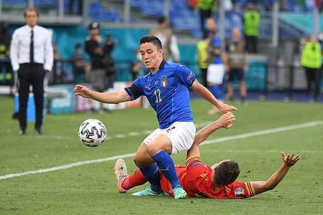 Giacomo Raspadori - Sassuolo - Atacante - 21 anos - 15 milhões de euros (R$ 89 mi) - Contrato até 30/06/2024